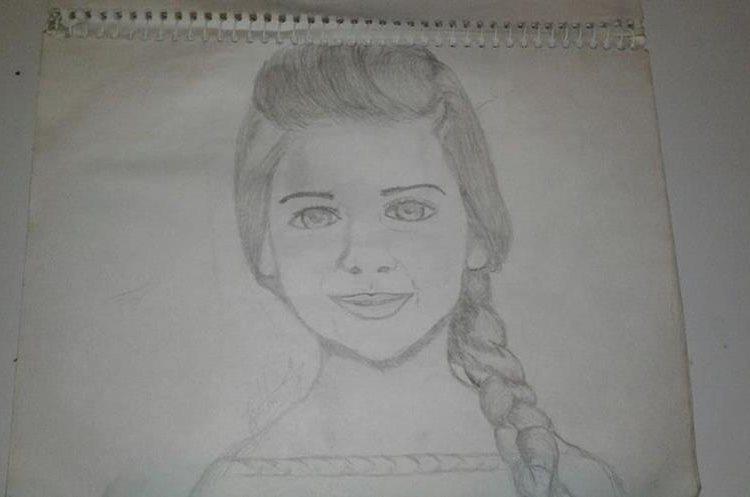 Edinson comenzó a dibujar rostros desde muy que era un niño. (Foto Prensa Libre: Edinson López)