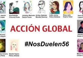 Acción Global #NosDuelen56 es una iniciativa que rinde homenajes a las víctimas del incendio en Hogar Seguro ocurrido en marzo último. (Foto Prensa Libre: Prensa Comunitaria)