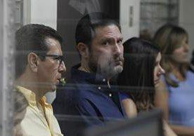 Hermanos Valdés Paiz durante la audiencia de este lunes. Foto Prensa Libre: Paulo Raquec.