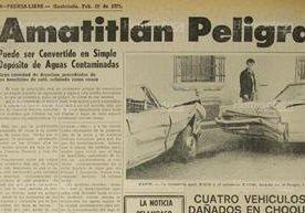 Notas periodísticas de otros años donde se advertía de la contaminación del Lago de Amatitlán.