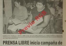Prensa Libre inicia campaña de alfabetización para voceadores. Foto: Hemeroteca PL