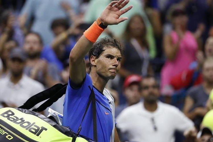 El español Rafael Nadal cae en ronda de octavos y se despide del US Open. (Foto Prensa Libre: AP)