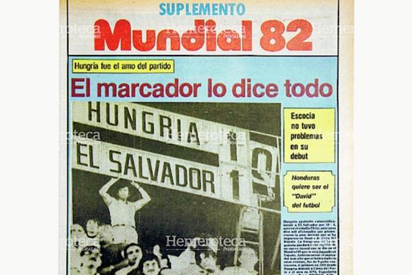 Portada del Suplemento Especial de España 82 en el que se informaba de la mayor goleada de los mundiales. (Foto: Hemeroteca PL)