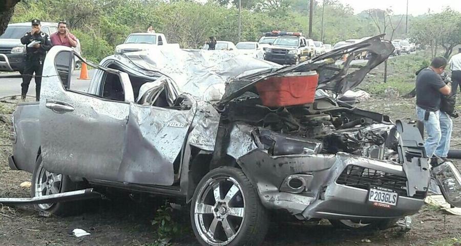 Familia había ido de paseo a Puerto San José y regresaba a casa cuando ocurrió el accidente.
