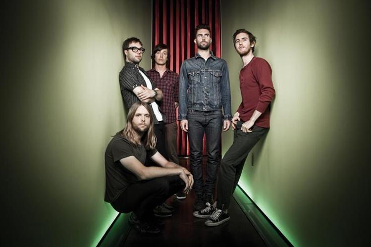 La banda estadounidense Maroon 5 se presentará el 21 de septiembre en Explanada Cardales de Cayalá. (Foto Prensa Libre: Hemeroteca PL)