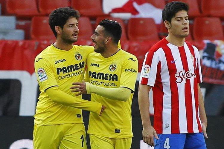 Pato festejó una anotación esta tarde frente al Sporting. (Foto Prensa Libre: EFE)