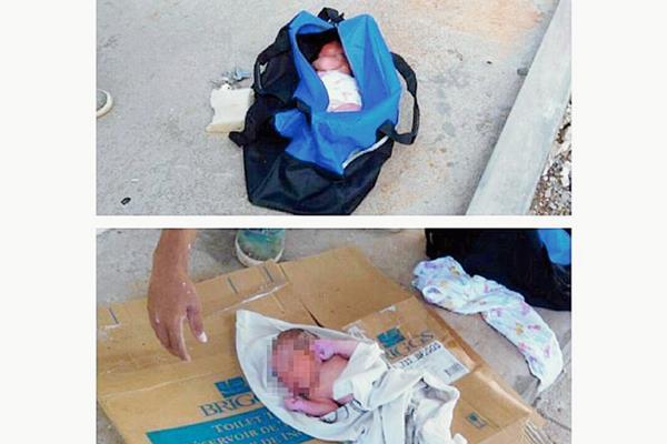 Las imágenes del recién nacido fueron difundidas en las redes sociales. (Foto Prensa Libre: laestrella.com.pa).