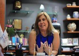 Carmen Gisela Vergara es la secretaria general de la Sieca; el cargo lo entregará en julio del 2017. Foto Prensa Libre: Esbin García.