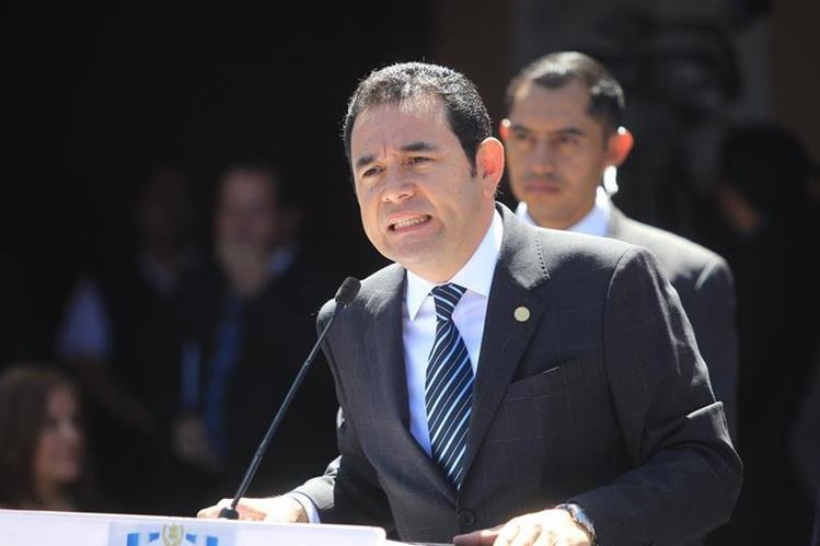 Sectores sociales demandan más liderazgo del presidente Jimmy Morales. (Foto Prensa Libre: Hemeroteca PL)