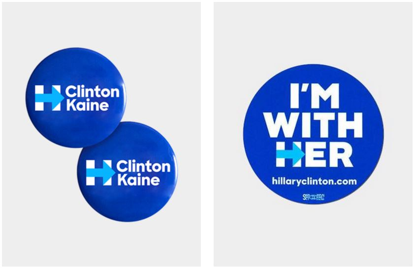 """Hillary Clinton ha utilizado el eslogan """"Estoy con ella"""" durante sus eventos proselitistas. (Foto Prensa Libre: Campaña de Clinton)"""