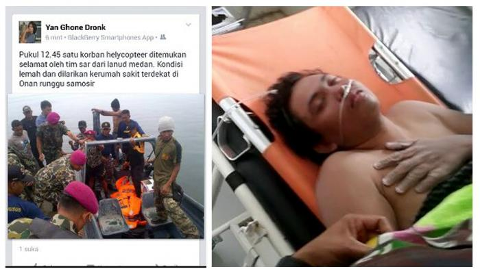 Fransiskus Subihardayan fue rescatado con vida cerca del puerto de Onan Runggu. (Foto Prensa Libre: Facebook)