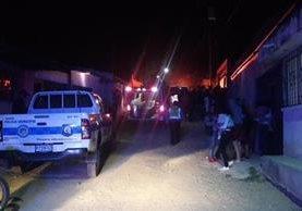 Lugar donde fueron asesinados dos menores en la zona 6 de Villa Nueva. (Foto Prensa Libre: Dalia Santos).