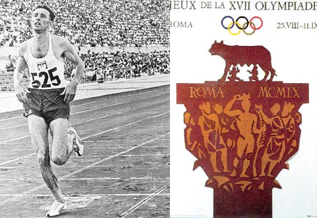 El atleta polaco Kryzskowiak entra en la primera posición en el final de la carrera de los 3 mil metros en los Juegos Olímpicos de Roma 1960. (Foto: Hemeroteca PL)