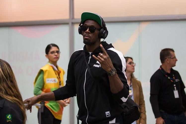 Usain Bolt a su arribo a la ciudad sede de los Juegos Olímpicos. (Foto Río 2016).