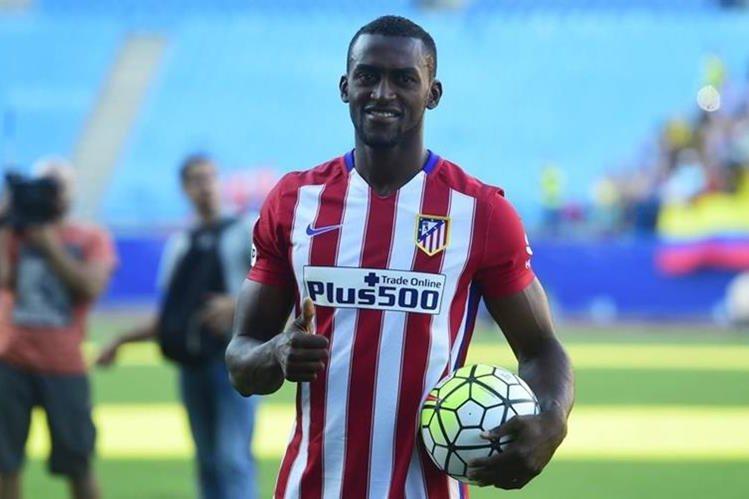 Jackson Martínez en su presentación con el Atlético de Madrid. (Foto Prensa Libre: Hemeroteca PL)