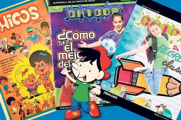 A lo largo de 34 años, Chicos ha experimentado una constante puesta al  día en contenido y presentación. (Fotoarte Prensa Libre)