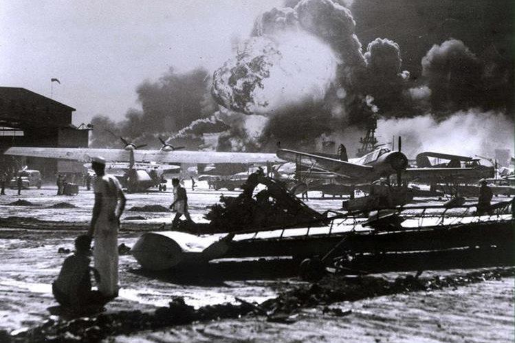 Ataque a Pearl Harbor, Hawaii, EE. UU., el 7 de diciembre de 1941. (Foto: Hemeroteca PL)
