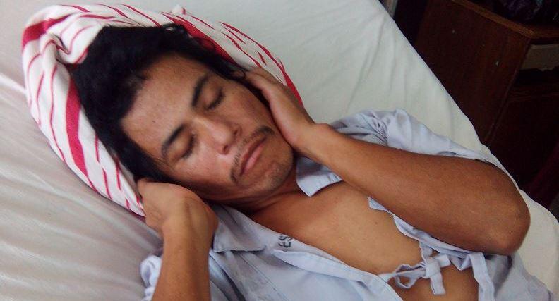 Un hombre no identificado está interno en el hospital desde el 6 de mayo pasado. (Foto Prensa Libre: Hospital San Juan de Dios)