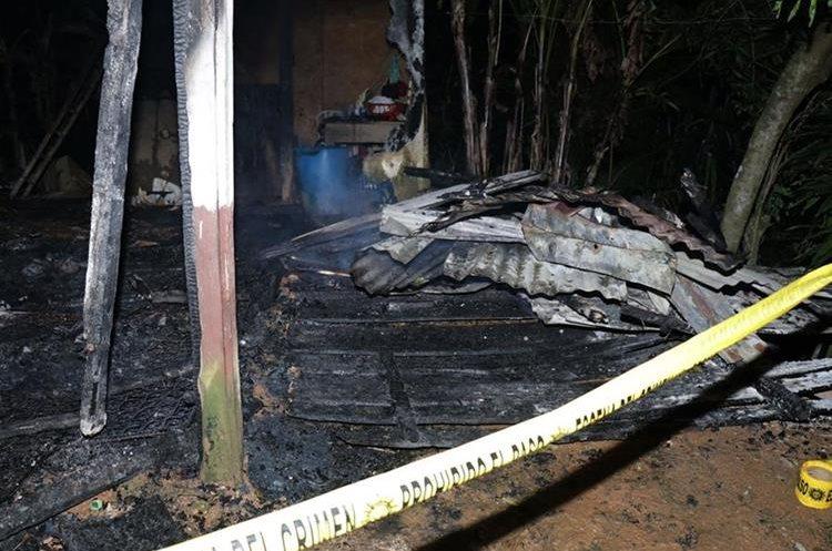 Juan García murió carbonizado luego de prenderle fuego a generador eléctrico. (Foto Prensa Libre: Dony Stewart)