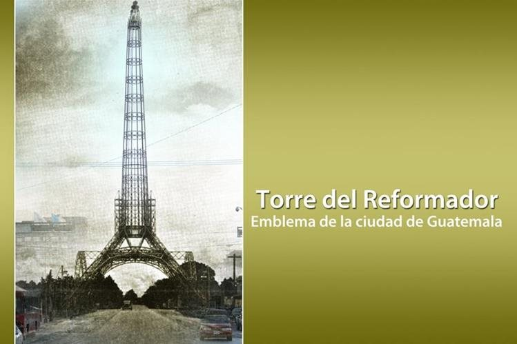 Una vista del ayer y hoy de la Torre del Reformador. (Fotoarte: Hugo Cuyán Vásquez)