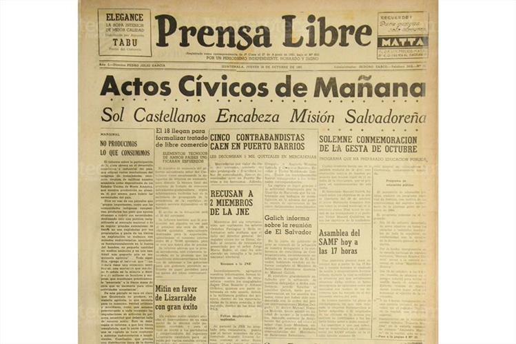Nota de Prensa Libre con fecha 18 de octubre de 1951 (Foto: Hemeroteca PL)