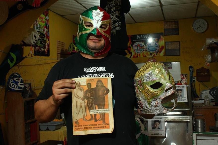 Adonis de México es uno de los representantes de la lucha libre actual. (Foto Prensa Libre: Josué León)