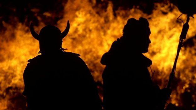 """Esta imagen violenta de los vikingos es la que ofrecen sus victimas """"casi sin excepción"""". PA"""