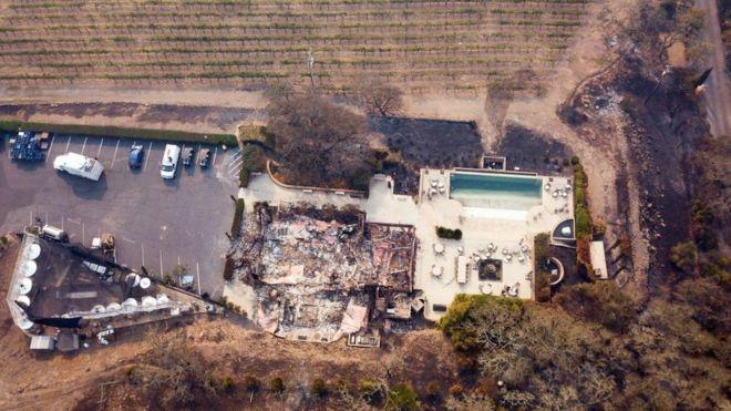 De acuerdo con los reportes de los bomberos, cuatro empresas vinícolas quedaron destruidas y hay más de 91.000 casas y negocios sin electricidad. AFP