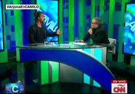 Ricardo Arjona discute con Camilo Egaña antes de salirse del set de transmisión.