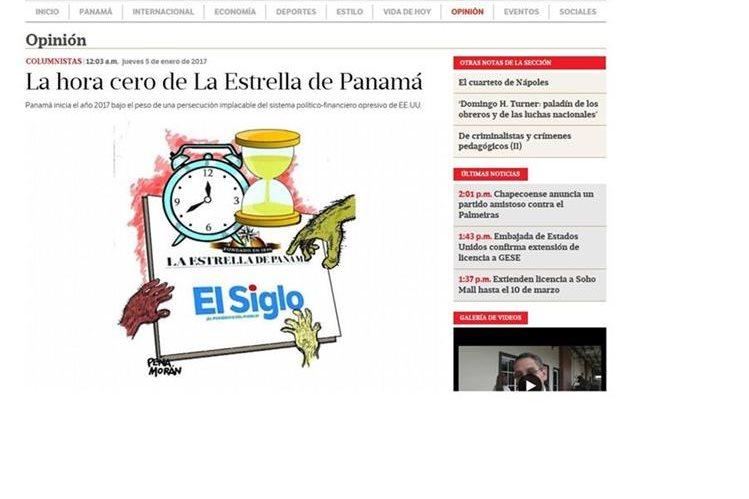 El diario La Estrella de Panamá fue fundado en 1849 cerrará a mediados de 2017.