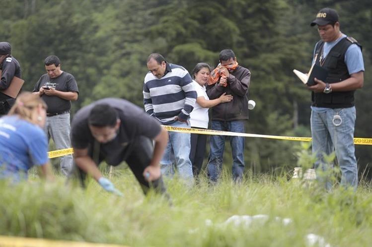 Las heridas por armas de fuego son las primeras en la lista de causa de muerte violenta.