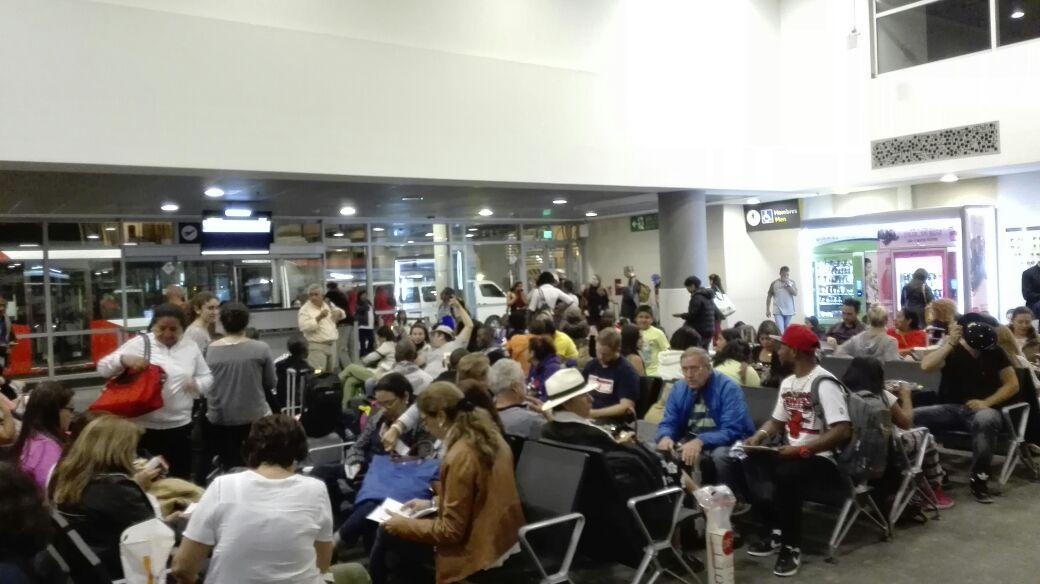 La escala en Colombia antes de llegar al destino final, Río de Janeiro en Brasil. (Foto Prensa Libre: Jeniffer Gómez)