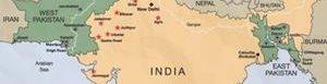 Ubicación de la India.