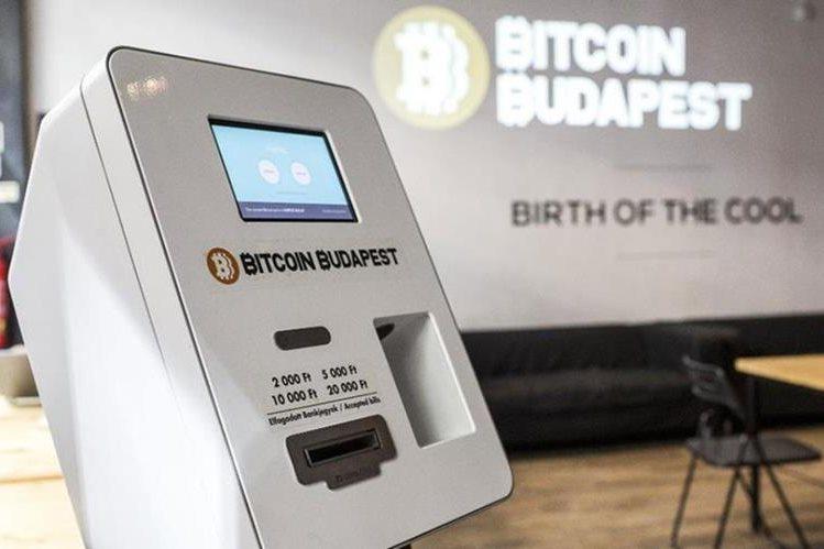 La moneda virtual puede adquirirse en máquinas dispensadoras. (Foto Prensa Libre: budapestlocal.com)