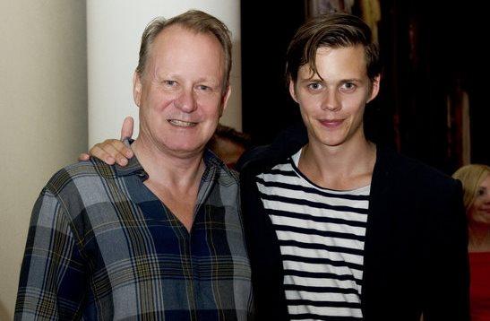 Stellan Skarsgard junto a Bill, uno de sus hijos dedicados a la actuación (Foto Prensa Libre: servicios).