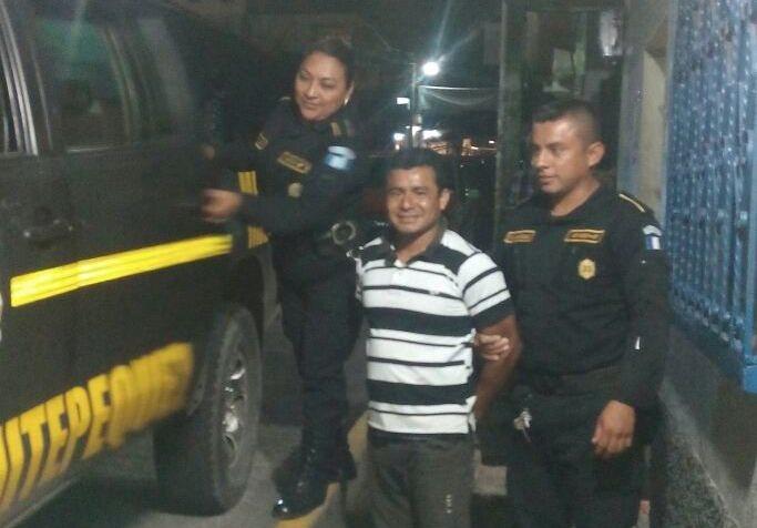 Alberto Mejía García fue capturado en enero último en Samayac, Suchitepéquez por violación con agravación de la pena.(Foto Prensa Libre: PNC)