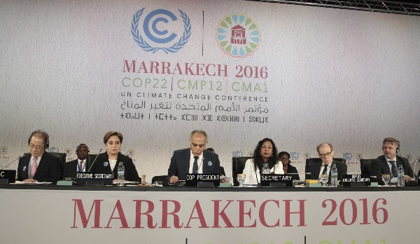 Ceremonia de inauguración de la conferencia de la COP22 en Marrakech, Marruecos. (EFE)