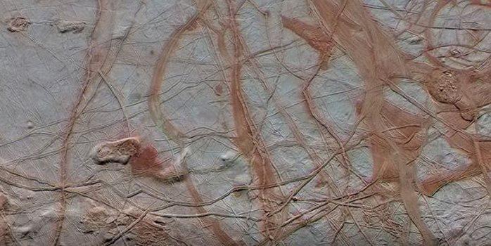 Imagen de la Nasa de la superficie de la luna Europa de Júpiter. (Foto tomada del sitio: www.jpl.nasa.gov9.