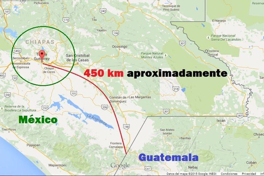 El Chapo tiene una tía que vive en Chiapas y la visitó en 1993 antes de huir a Guatemala. (Infografía Prensa Libre)
