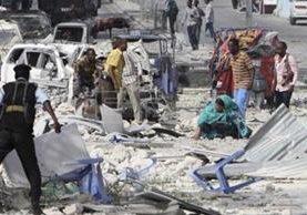 Varios muertos en doble atentado en Somalia. (Foto Prensa Libre: EFE)