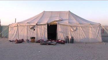Tiendas de lujo en el desierto