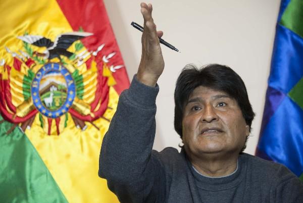 Evo Morales, presidente de Bolivia. (Foto Prensa Libre;EFE).