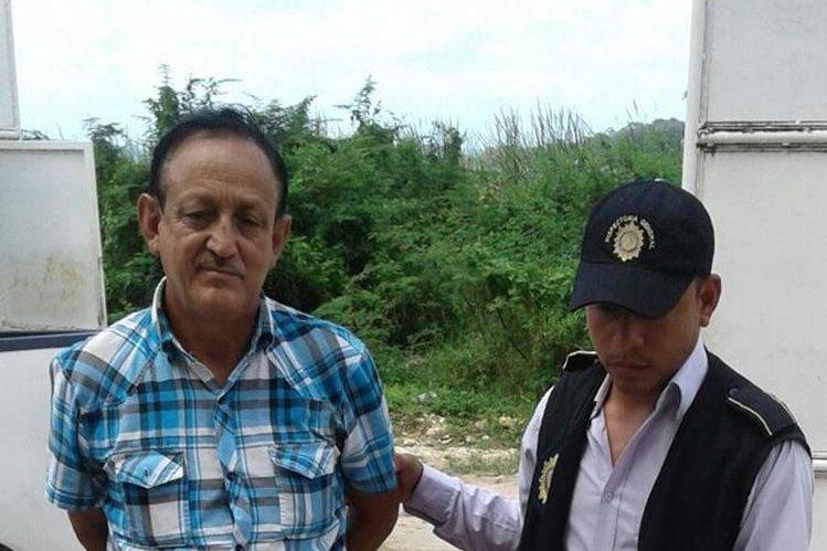 Capturado en Melchor de Mencos, Petén. (Foto Prensa Libre: PNC).