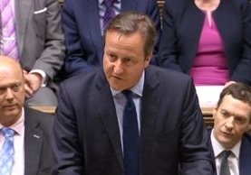 <span>David Cameron</span> <span>da declaraciones</span> <span>a la Cámara de</span> <span>los Comunes. (AP).</span>