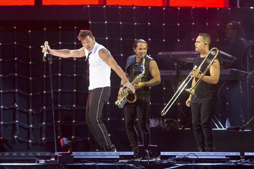 El baile fue el deleite del concierto de Ricky Martin. (Foto Prensa Libre: EFE)