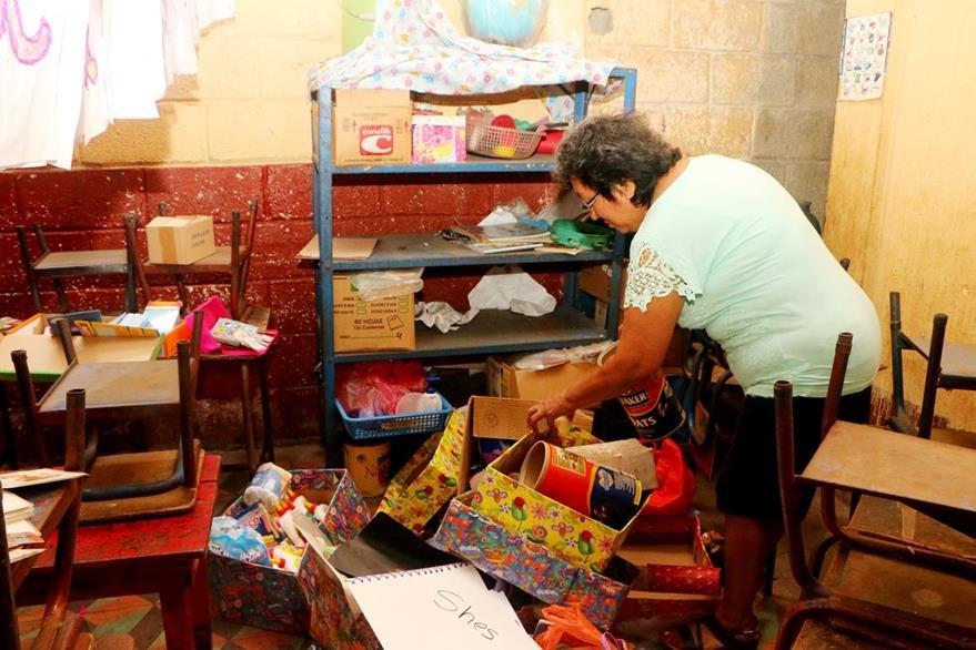 Escuela fue saqueada por delincuentes en la zona 4 de la cabecera de Retalhuleu. (Foto Prensa Libre: Rolando Miranda)