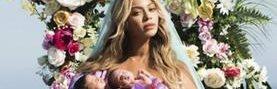 Beyoncé posa sus gemelos recién nacidos Sir Carter y Rumi. (Foto Prensa Libre: AP)