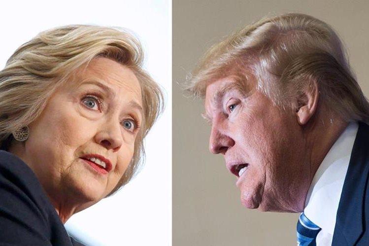 Clinton y Trump esperan triunfo contundente el martes en primarias. (Foto Prensa Libre: AFP)