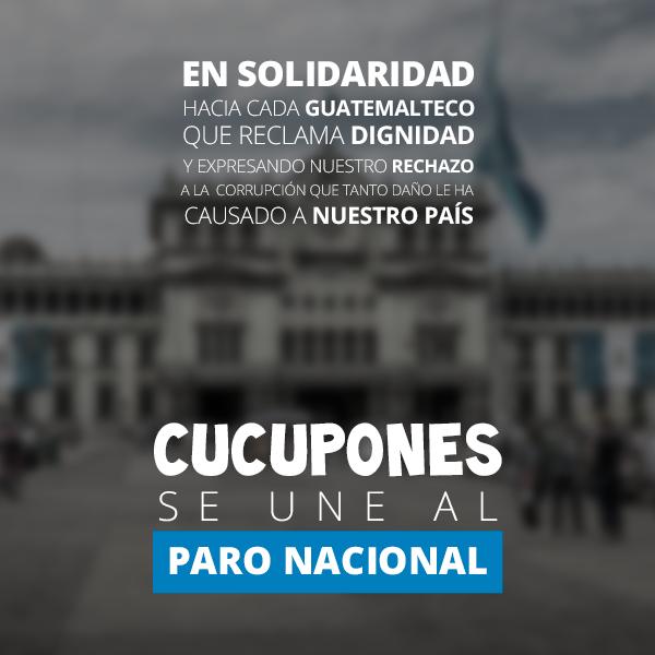 La empresa CupCupones también apoya marcha de este 20 de septiembre. (Foto Prensa Libre: Cortesía)