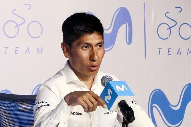 Nairo criticó a la autoridades del ciclismo colombiano. (Foto Prensa Libre: EFE)